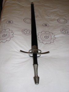 Sword in scabbard