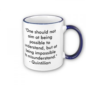 Mug with quotation from Quintilian
