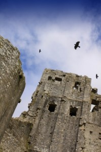 Ruins and ravens