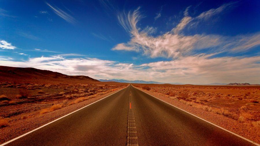 Photo of highway through the desert