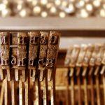 Photo of vintage typewriter keys